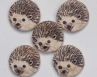 Four Large Buttons Of Hedgehog And The Fifth Is A Gift