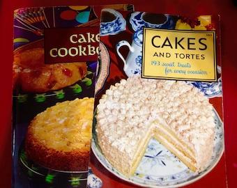 Vintage cake cookbooks fifties and sixties