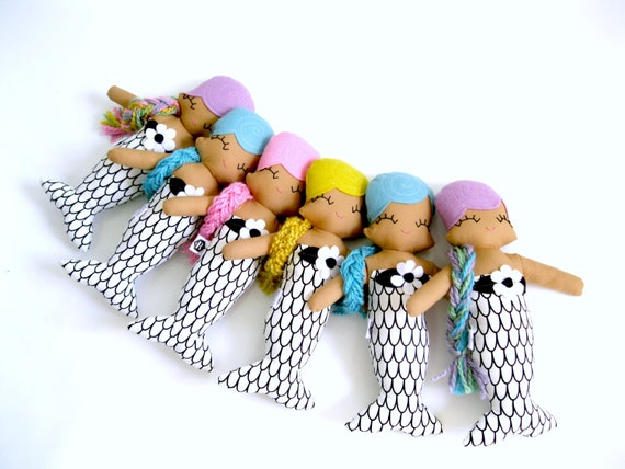 Miranda Mermaid Cloth Rag Doll - MADE TO ORDER