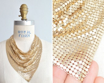 Vintage 1960s WHITING & DAVIS mesh handkerchief necklace
