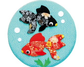DIY Goldfish Japanese Folk Art home decoration Fabric kit  --- Japanese Craft Kit (Just use glue to make it) 4128104