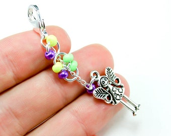 Fairy Charm. Cluster Charm with Fairy. Custom Keychain Charm with Pixie Charm.BRC020