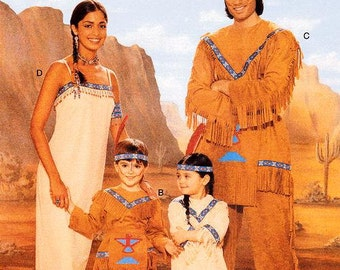 Butterick Adult Costume Pattern 4171 - Men's and Misse's Costume Pattern - Native American Indian Costumes - All Adult Sizes Included