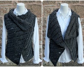 CARDIGAN, knitted JACKET, womens WRAP, sleeveless cardigan, knitwear clothing, sweater top