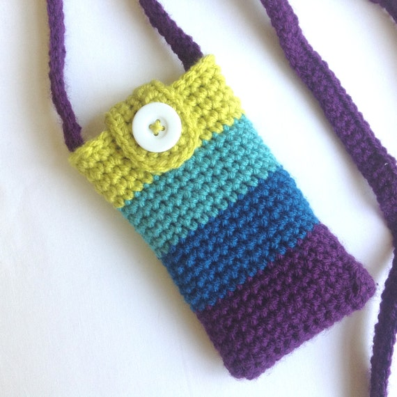 Crochet Cell Phone Purse : Purse, Smart Phone Crossbody, Smartphone Crossbody, Cell Phone Purse ...
