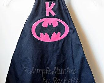 CUSTOM  Batgirl Superhero Cape - Dress Up Cape - Halloween Cape - Costume - You Choose Size - Peek A Boo Pattern Cape