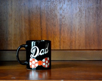 vintage waechtersbach father's day coffee mug / for dad / bowtie hipster mug