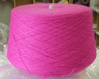 Acrylic Yarn on Cones, Sock Yarn, Machine Knitting Yarn, Weaving Yarn, Crochet Yarn, 2/17 Knitting Yarn, Fuchsia Yarn