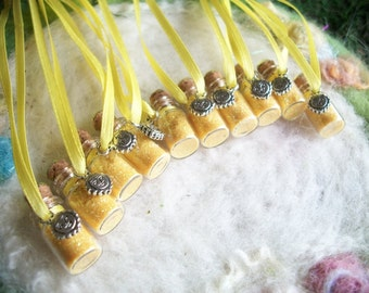 Luau Party Favors, Happy Birthday Sunshine Hawaiian Beach Party, 10 Necklaces Yellow Flower Fairy,Gnome,Princess, Small Gift,Prize,Offering