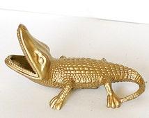 Gecko Lizard Soviet Ash Tray Cast Iron Ashtray 1970s from Russia Soviet Union USSR