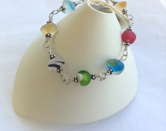 English Sea Glass Bracelet