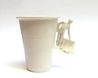 Porcelain cup 'Torero C' by YUKIKO KITAHARA
