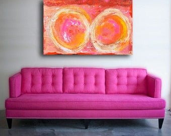 Abstract Painting,Large Pink Art,Original Abstract Art,Colorful Art,Acrylic Painting,Wall Art,PAINTING on wood Abstract