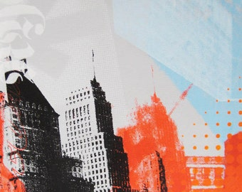 Original silkscreen painting of New York, titled NYC #5