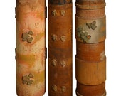 Early 20th Century Wallpaper Printing Rollers as Vases