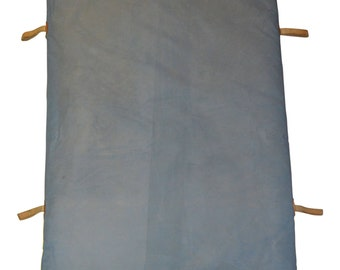 Mid-century German Gym Mat of with Leather Corners and Handles
