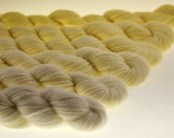 Mini-Skeins DK or Fingering Yarn Ombre Gradient Dyed  - Sunlight