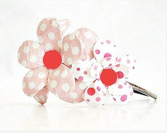 All About Pink Daisy Paper Mache Headband