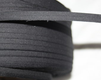 "3 yards black covered lip piping boning sewing supplies 7/16"" wide"
