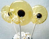 Buttered popcorn with coconut and chocolate lollipop - yummers