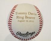 Personalized Engraved Baseball for Ring Bearer, Engraved Baseball, Personalized Baseball, Ring Bearer baseball, Rawlings Baseball