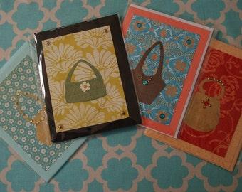 Set of Fashion Bag Greeting Cards