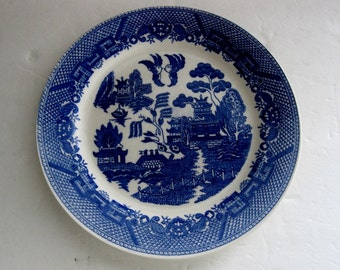 Blue Willow  Dessert Plate Made in Japan 50's - 60's Nice