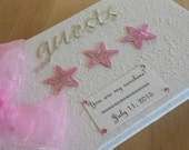 Baby Shower Guest Book - Pink Stars
