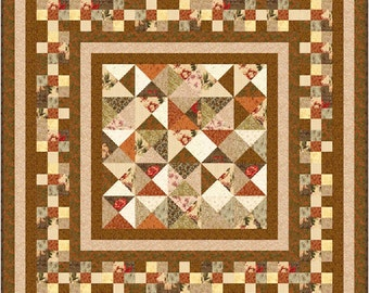"""CHOCOLATE BOX - 67""""x 67"""" Small Double or 55""""x 55"""" Lap - Quilt-Addicts Pre-cut Patchwork Kit or Finished"""