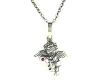 Beautiful necklace with cute little angel || РУБИН PK