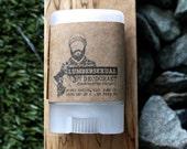 Organic Deodorant - MINI Lumbersexual Stick Deodorant