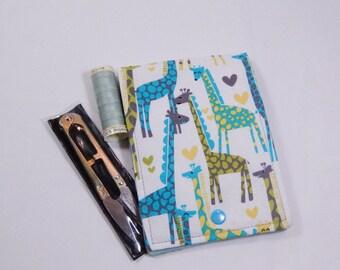 Giraffe Sew Kit, Sewing Kit, Travel Sewing Kit, Mending Kit, Repair Kit, Sewing Wallet, Sewing Case, Gift Under 15