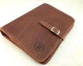 Genuine Leather Padfolio - Crazy Horse Tanned Brown - Letter Size - Free Engraving / Monogramming -