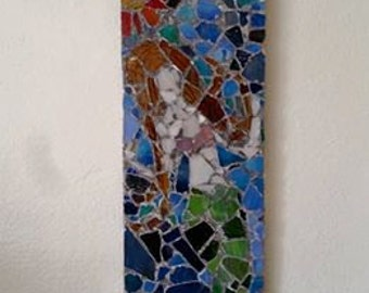 Stained Glass Mermaid Mosaic