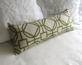SURI GREEN 9x25 Bolster/lumbar pillow available in many of our fabrics