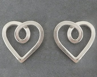sterling silver heart studs 7mm