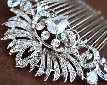 Bridal Hair Comb, Wedding Hair comb, Wedding Hair Accessories, Crystal comb, rhinestone comb, Bridal Crystal hair comb, Art Deco, headpiece
