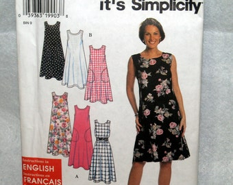 Vintage Simplicity 7541 Misses Dress or Jumper Pattern - Sizes XS and S