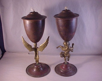 Copper and Brass Outdoor Oil Lamps
