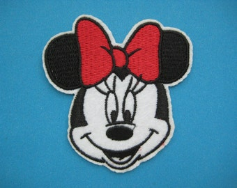 Clearance~ 5 pcs Iron-on Embroidered Patch Minnie Mouse 3 inch
