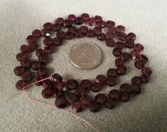Faceted briolette Garnet beads