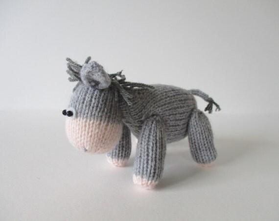 Bobbin the Donkey toy knitting patterns from fluffandfuzz ...