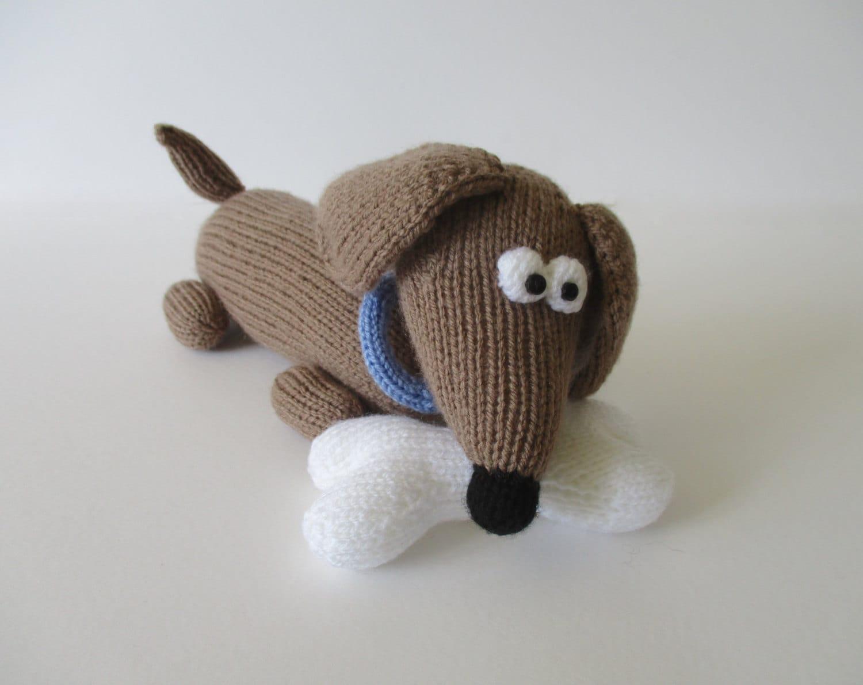 Knitting Pattern Sausage Dog : Bangers the Sausage Dog toy knitting patterns
