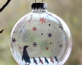 Little Penguins Christmas Holiday Ornament