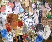 Ephemera.  Images of people for collages, decoupage, scrapbooking, whatever. Tons of great stuff. Gift for artists.