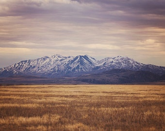 Western Mountain Landscape Photograph, Color Mountain Art