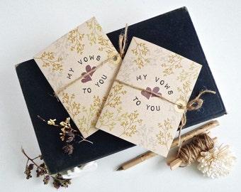 Rustic Vow Books. Bride Groom rustic vow books. Wreath wedding vow book. Wedding ceremony. VB455