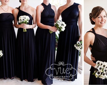 Long Maxi  Dress- Choose your Fabric from over 55 colors- Octopus Infinity Wrap Dress- The Mismatched Bridesmaid