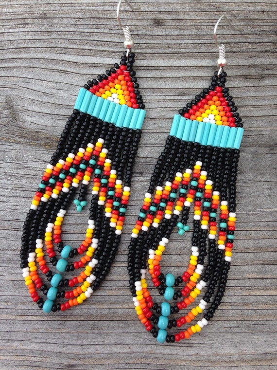 Native American Style Black Multi Colored By