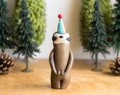 Sloth Figurine - Sloth Birthday Cake Topper by Bonjour Poupette